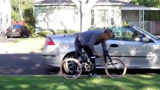 Retrospec Speck Folding Bike - How to Fold a Folding Bike
