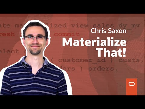 Materialized Views And More Sql Stuff Youtube