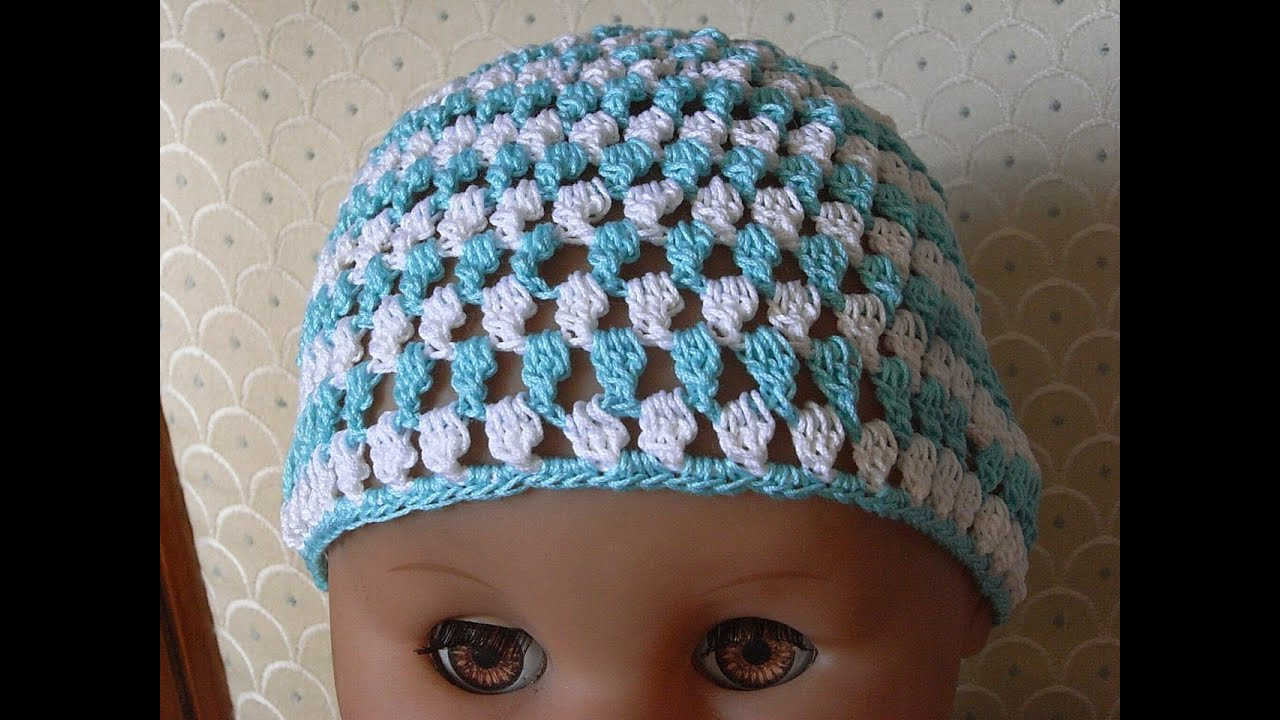 Baby Mütze Häkeln m. Tropfen muster Baby hat crochet*Tutorial ...