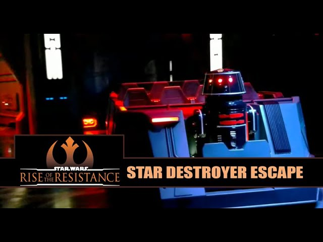 Star Wars: Rise of the Resistance Ride Vehicle Star Destroyer Escape Sequence