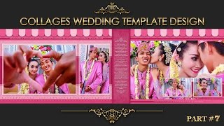 Elegant Inspiration Collages Album Wedding Photoshop Part 7