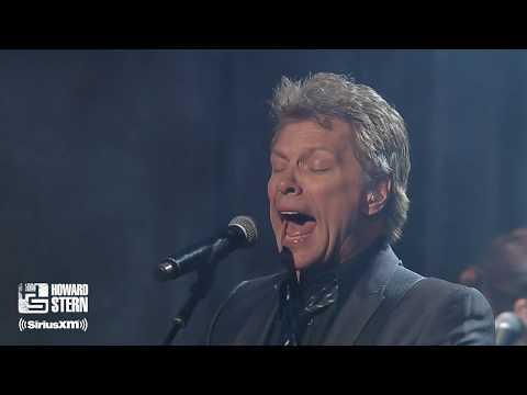 "Jon Bon Jovi & Train's Pat Monahan ""Wanted Dead or Alive"" at Howard's Birthday Bash (2014)"