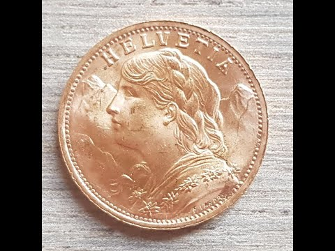 1947 Swiss 20 Franc Gold coin