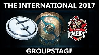 EG vs Empire GAME 1, The International 2017, Empire vs EG