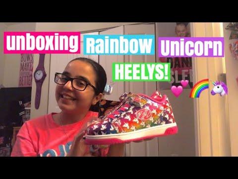 Unboxing rainbow 🌈 💕🦄 Unicorn HEELYS