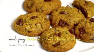 Earl Grey Dark Chocolate Chunk Cookies Recipe Video | Bakestarters
