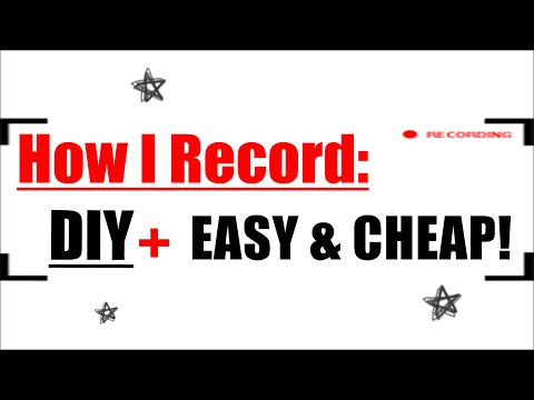 How I Record Myself Drawing | DIY  Easy & Affordable