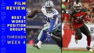 Best & Worst Position Groups Through Week 4 | NFL Film Review