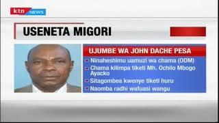 Useneta Migori: Mbunge wa zamani Dache asema hatagombea, aiheshimu uamuzi wa ODM