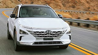 2019 Hyundai NEXO interior, exterior, and drive Fuel Cell Electric Vehicle FCEV CES 2018