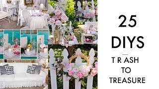 🍃25 DIY TRASH TO TREASURE MAKEOVER PROJECTS 🍃 VINTAGE UPCYCLE/ Olivia's Romantic Home