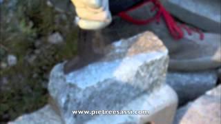 PIETREESASSI : taglio della pietra a mano,  stone cutting