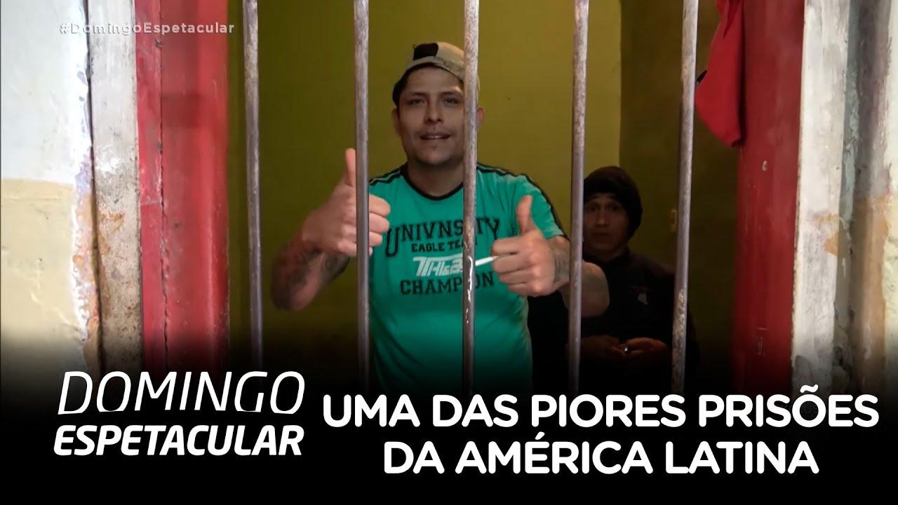 Resultado de imagem para Domingo Espetacular entra em uma das piores prisões da América Latina