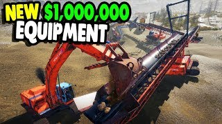 Biggest $1,000,000 GOLD MINE Equipment Ever | Gold Rush: The Game Gameplay