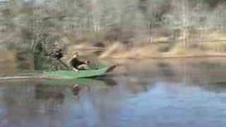 Mini Airboat  In The Swamp. Lakebuggy Single Seat Model.