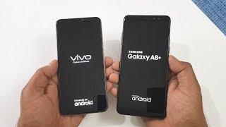 ViVo V9 vs Samsung Galaxy A8+ Speed Test Comparison !