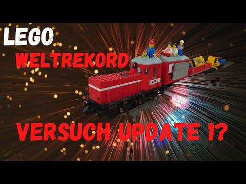 Legoschienen Weltrekord Versuch Update1 - Die Legoschienen über 35.000 später für einen guten Zweck!