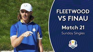 Fleetwood vs Finau | Sunday Singles | 2018 Ryder Cup