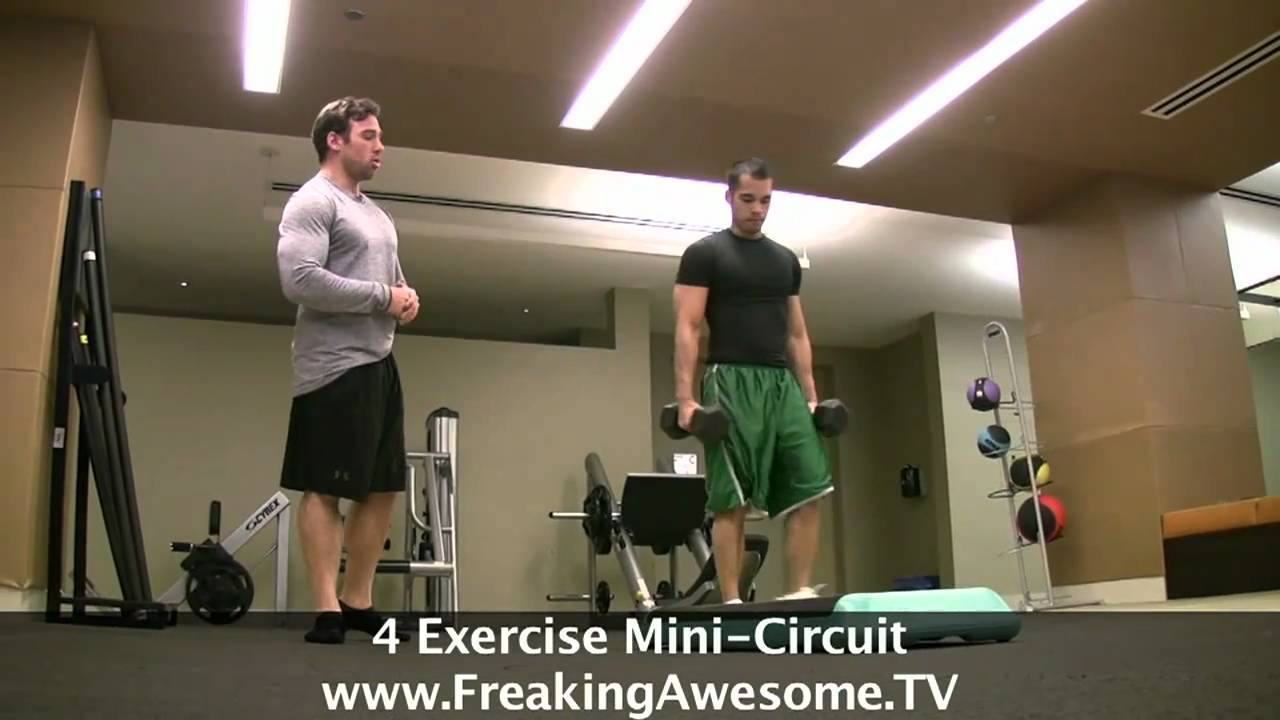 Intense 4 Exercises Circuit Training Youtube The Basic We Did Today