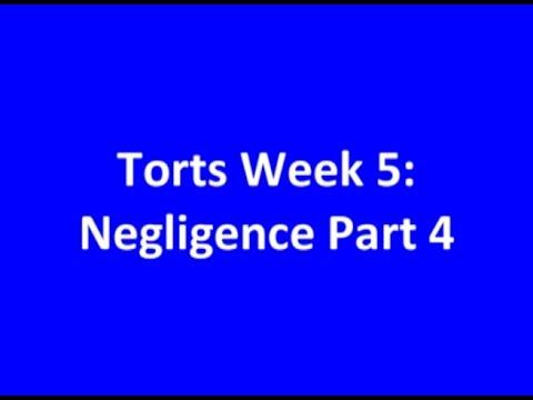 2014 0916 Torts Week 5 Part 3 Negligence Part 4