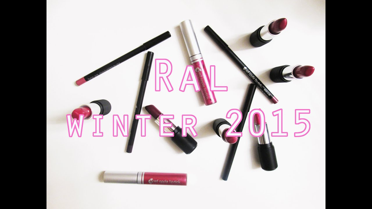 Red Apple Lipstick Winter 2015 Collection!! // Vegan, Non Toxic ...