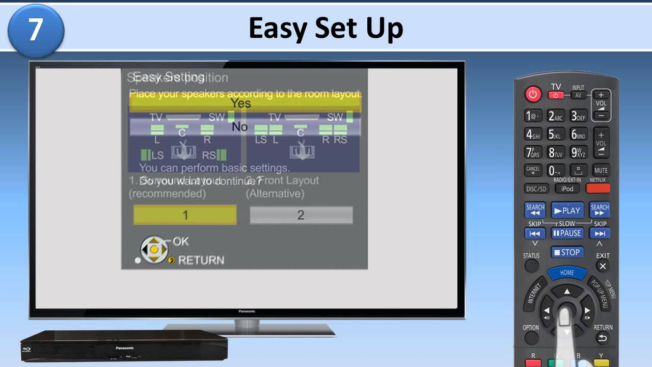 Getting TV Sound from your Home Theater SC-BTT490, 190, 195, 196 ...