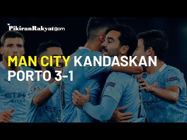 Manchester City vs Porto, Kemenangan City Disokong 2 Tembakan Bola Mati