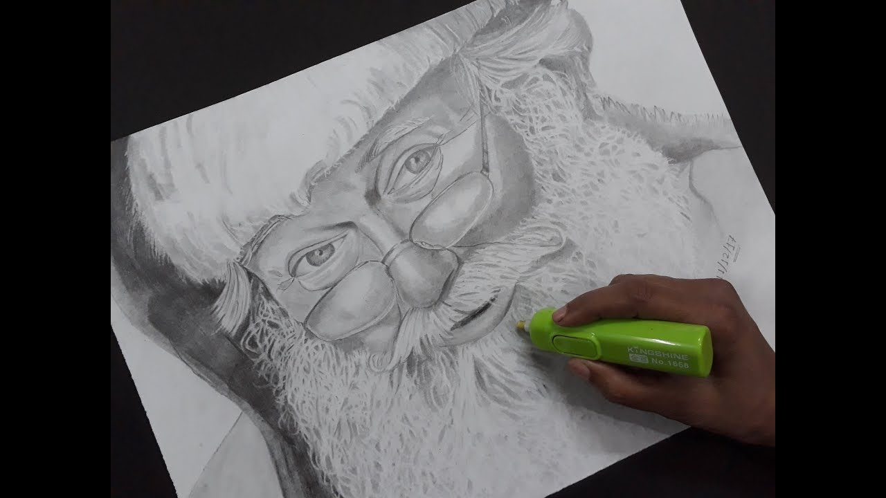 How to draw Santa Claus pencil sketch - YouTube