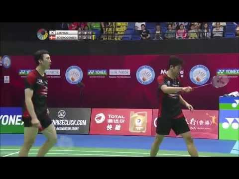 Yonex Sunrise Hong Kong Open 2015   Badminton F M5-MD   Lee/Yoo vs Boe/Mog