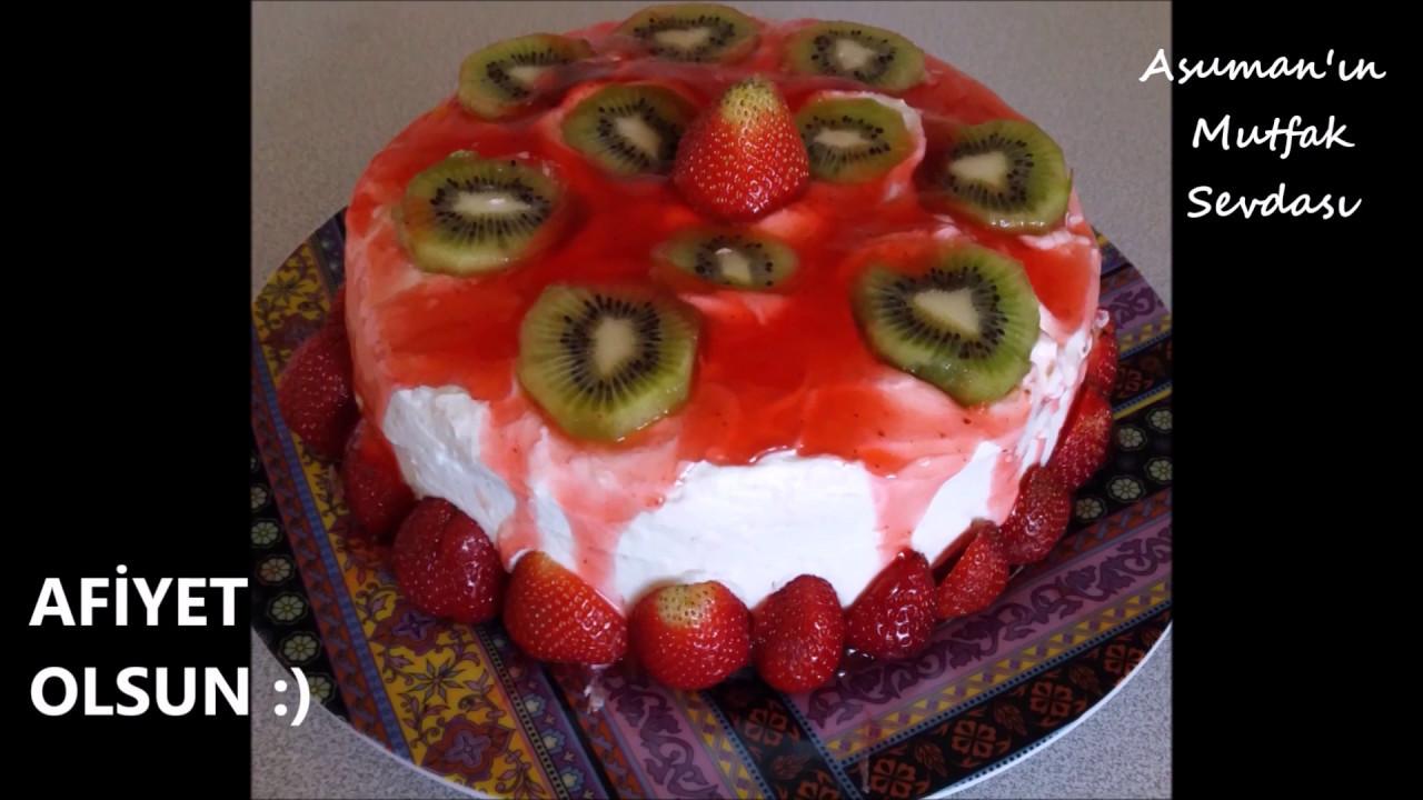 Ev Yapımı Meyveli Pasta Tarifi Videosu
