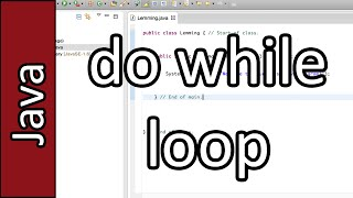 do while Loop - Java Programming Tutorial #22 (PC / Mac 2015)
