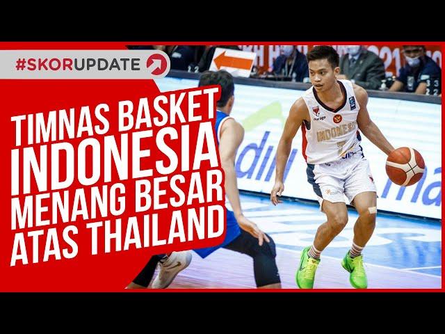 Timnas Basket Indonesia Menang Besar atas Thailand