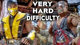 MORTAL KOMBAT 11 Gameplay Very Hard Difficulty Scorpion Vs Baraka