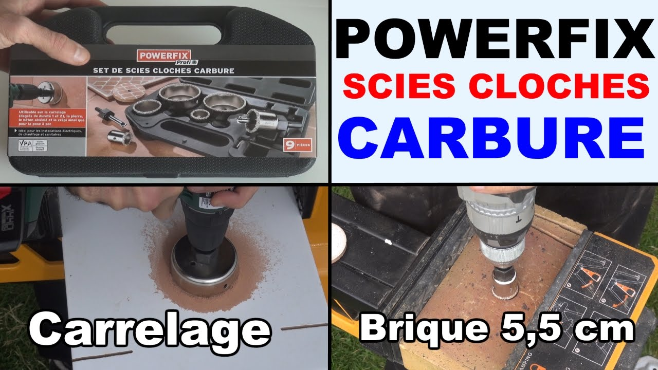 Scies cloches carbure powerfix profit percer carrelage for Percer trou carrelage