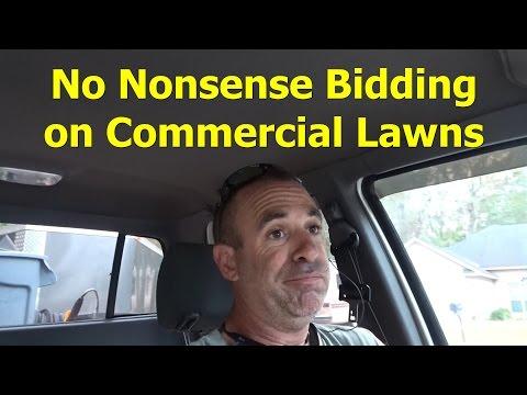 How I Bid Commercial Lawn Service Jobs (Sort of) - Free Recumbent Bike - Winter Mode