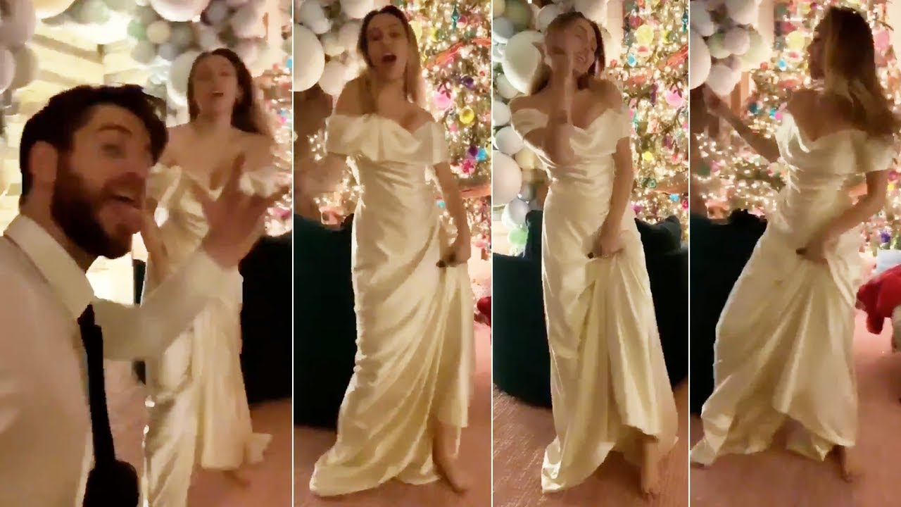 Miley Cyrus Wedding Dress.Miley Cyrus Dances To Uptown Funk In Gorgeous Wedding Gown With Husband