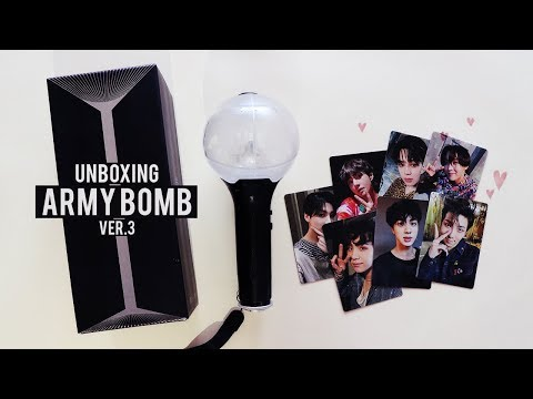Unboxing ARMY BOMB VER.3 (BTS Official Light Stick)