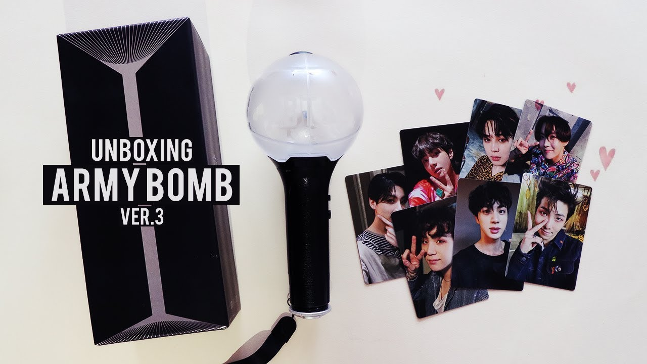 Unboxing ARMY BOMB VER.3 (BTS Official Light Stick) - YouTube