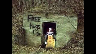 clowns in woods try to lure children with money and candy residents say