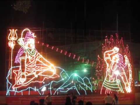 Temple Lighting The Shiva Festival