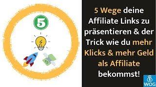 5 Wege wie du deine Affiliate Links verbreitest und so online Geld verdienst⎪#FragDenKox