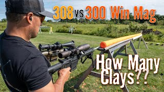 308 vs 300 Win Mag 💥 How Many Clays Will They Shoot Through?   Gould Brothers
