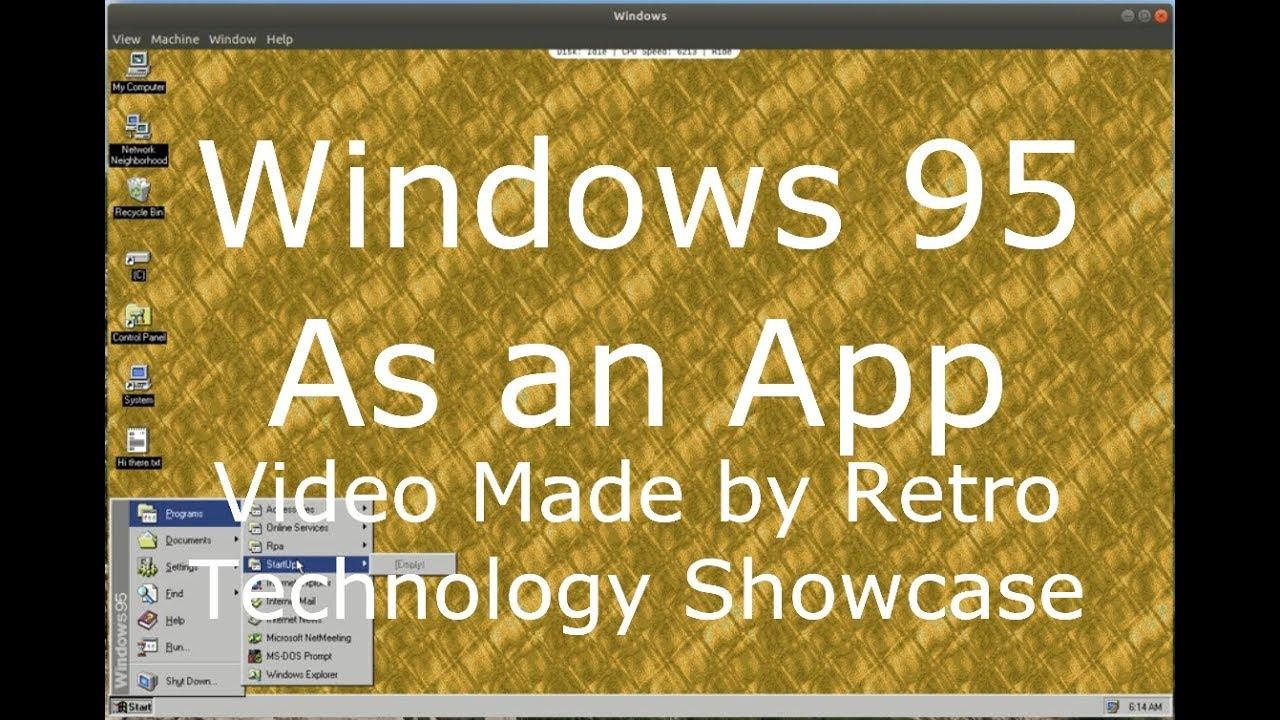 Windows 95 'Ready to Go' Emulator/ App