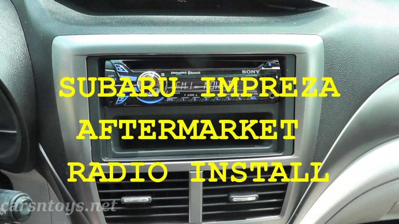 Subaru Aftermarket Radio Install With Bluetooth Hd Youtube