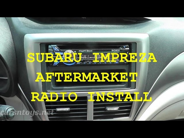 subaru aftermarket radio install with bluetooth hd - youtube  youtube