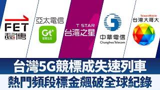第一波5G釋照競標成失速列車 台五大電信廝殺翻新全球標金紀錄 財經趨勢4.0【2020年1月4日】