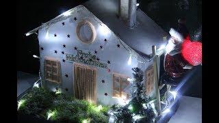 """DIY Weihnachts haus : """" Frohe Weihnachten """"/Christmas house:"""