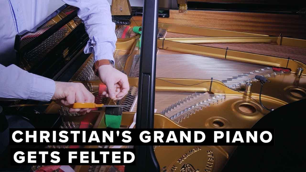 Christian's Grand Piano Gets Felted