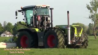 Grass Silage 2018 | Gras Maaien - Claas Xerion 3800 trac VC GPS met Claas Triplemaaier