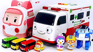 Let's go Ambulance Alice~! Take the injured Baby shark to the hospital!   PinkyPopTOY